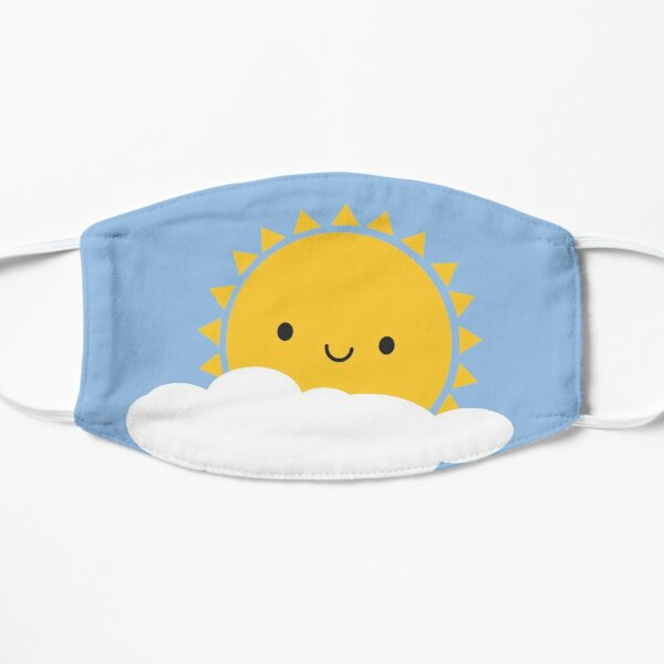 Hello Sunshine - Kawaii Sun  Flat Mask