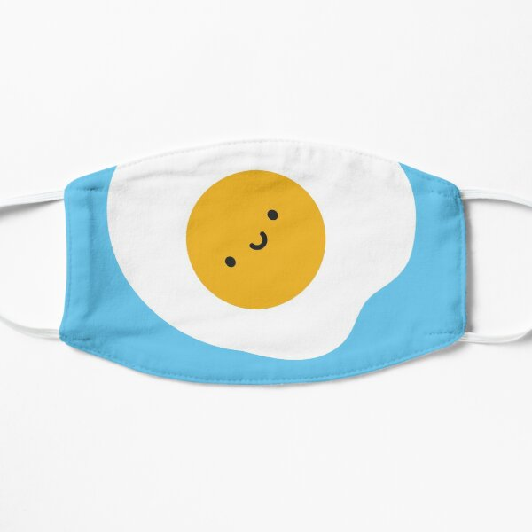 Kawaii Fried Egg  Flat Mask