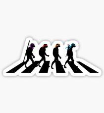 Turtle Road (Black) Sticker