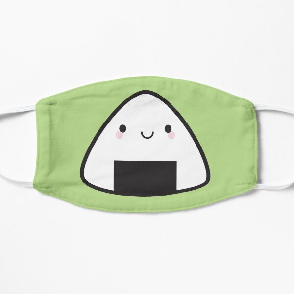 Kawaii Onigiri Rice Ball Flat Mask