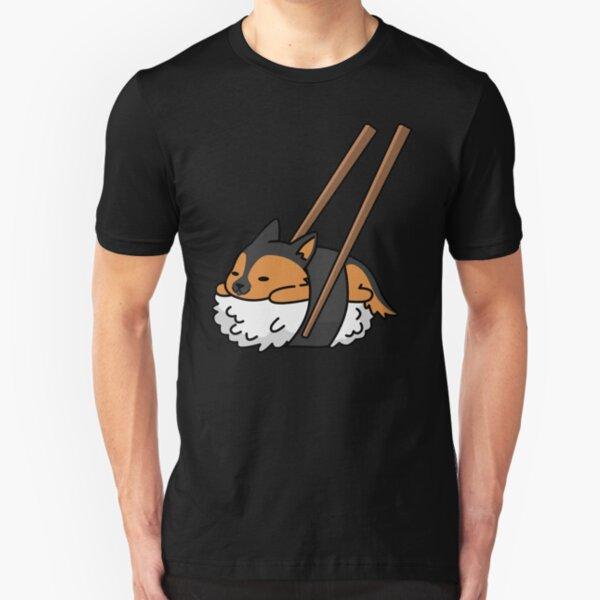 Funny Sushi German Shepherd Slim Fit T-Shirt