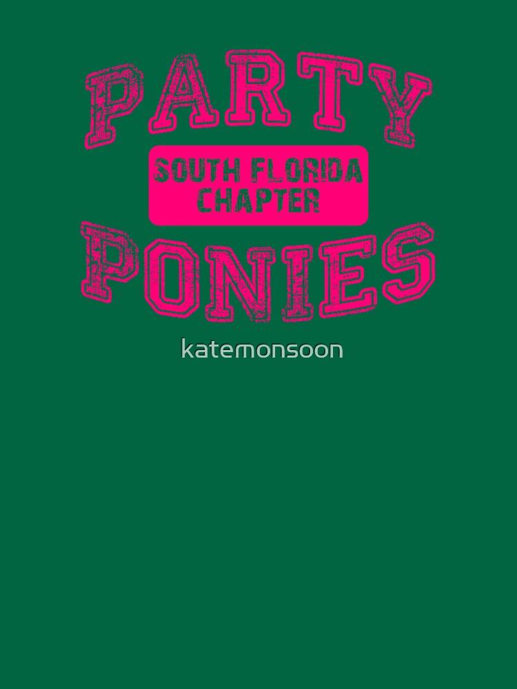 Party Ponies - Pink by katemonsoon