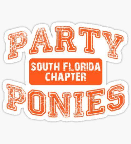 Party Ponies - Orange Sticker