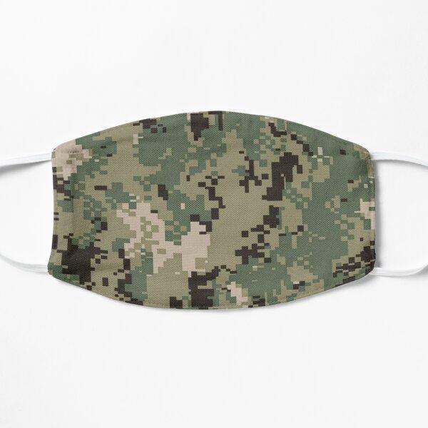 Navy NWU Face Mask Green Digital Camo Mask NWU Type 3 Camouflage Face Mask Flat Mask