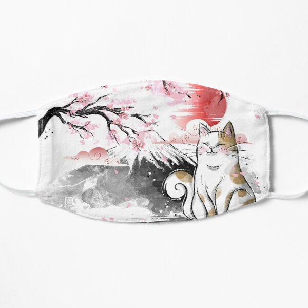 Sakura cat Flat Mask