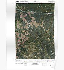 USGS Topo Map Washington State WA Elk Mountain 20110405 TM Poster