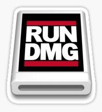 RUN DMG Sticker