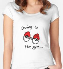 Going to the gym Women's Fitted Scoop T-Shirt