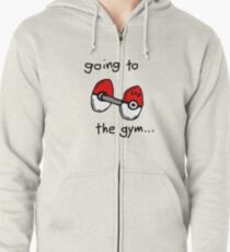 Going to the gym Zipped Hoodie