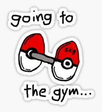 Going to the gym Sticker