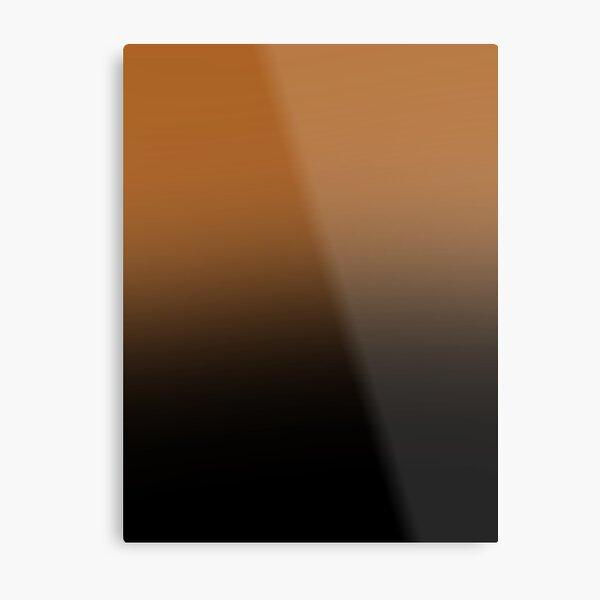 Orange to black checkers/ orange to black gradient squares Metal Print