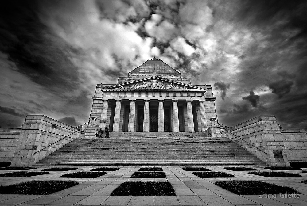 The Shrine of Rememberance by Emma  Gilette