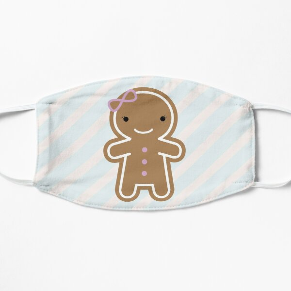 Cookie Cute Gingerbread Girl Flat Mask