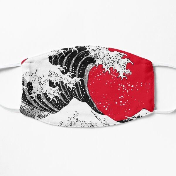 The Great Wave Off Kanagawa - Big Red circle Flat Mask