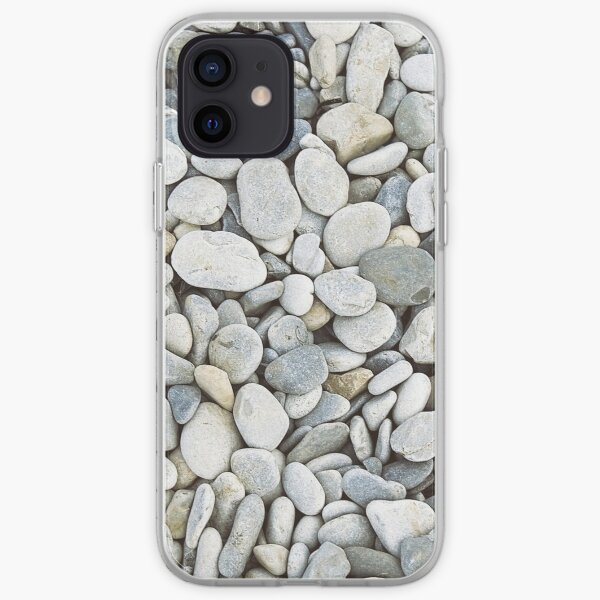 Grey pebbles iPhone Soft Case