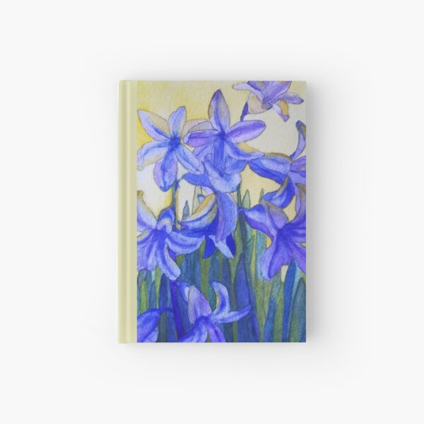 Bluebells watercolour painting Hardcover Journal