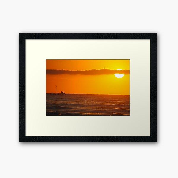 Trawler in the Dawn - Apollo Bay, Victoria Framed Art Print