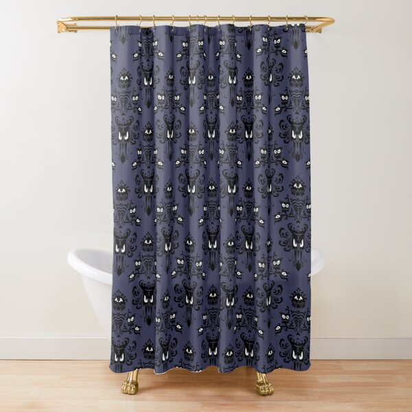 Mansion Demon Face Wallpaper Shower Curtain