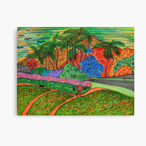Tahitian Landscape Canvas Print