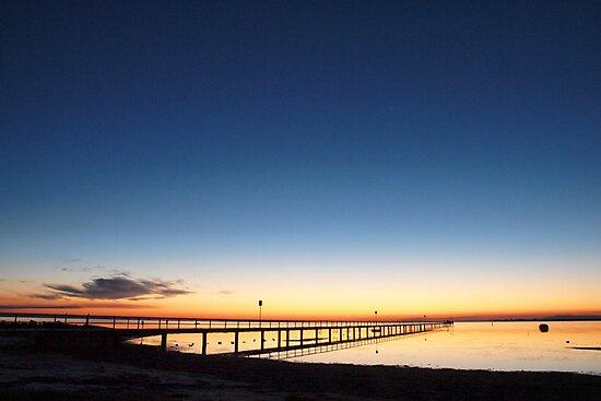 Swan Bay Jetty at Dawn by John Sharp