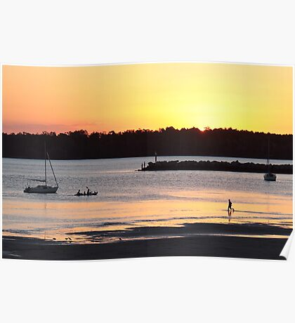 Not Too Late: Sunset, Iluka Bay, NSW Poster