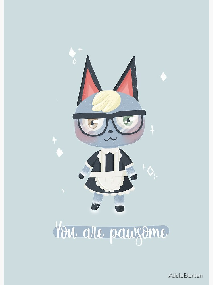 You Are Pawsome Raymond Animal Crossing New Horizons Art Board Print By Aliciabarten Redbubble