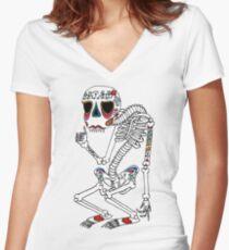 Skeletee Women's Fitted V-Neck T-Shirt