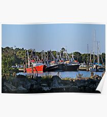 Seeing Red: Iluka Harbour, NSW Poster