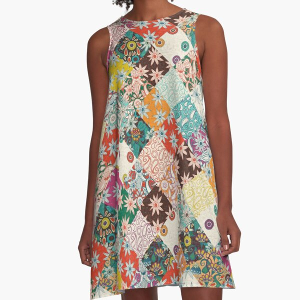 sarilmak patchwork A-Line Dress