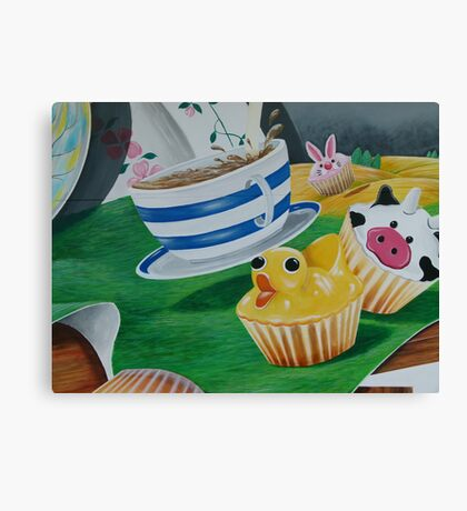 Its a Ducky Cupcake  Canvas Print