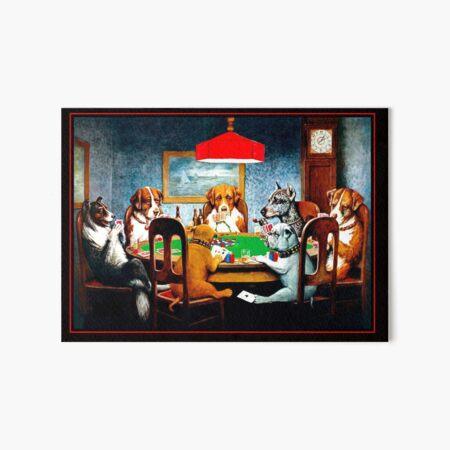 DOGS PLAYING POKER : Vintage C M Coolidge Print Art Board Print