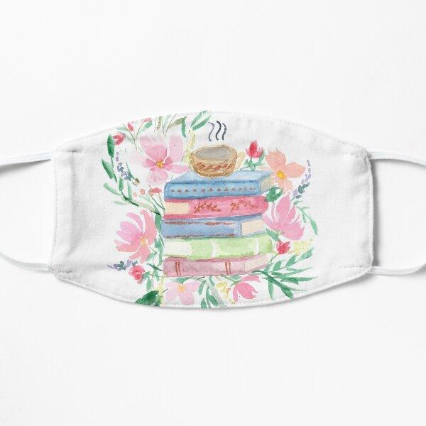 Livres aquarelles avec fleurs Masque sans plis