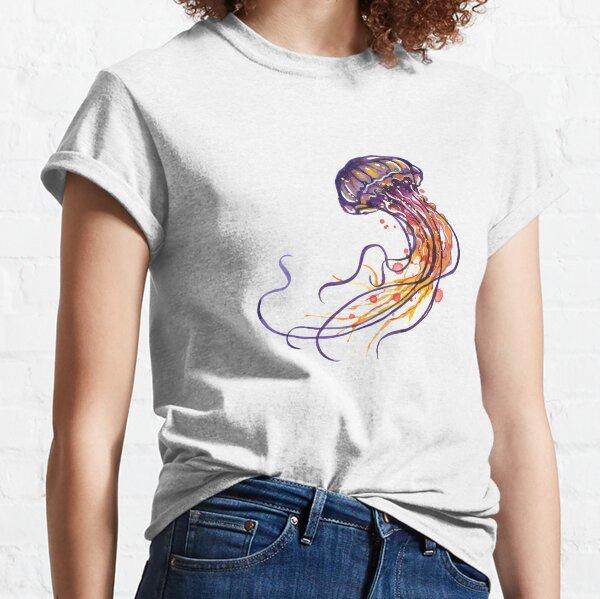Jellyfish watercolor Classic T-Shirt