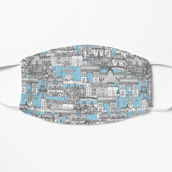 Paris toile cornflower blue Flat Mask