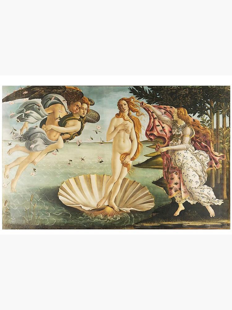 VENUS. The Birth of Venus, 1486, Sandro Botticelli. by TOMSREDBUBBLE