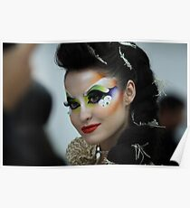 woman with bright makeup Poster
