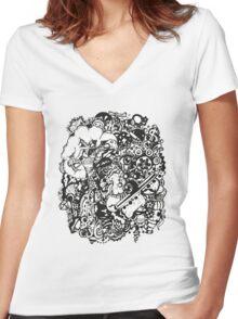 Misc. Women's Fitted V-Neck T-Shirt