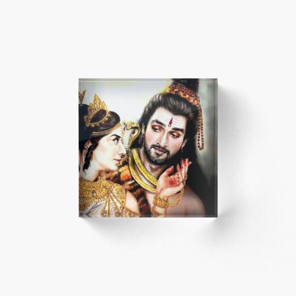 Shiv Parvati Acrylic Blocks Redbubble Shiv parvati mobile image pics. redbubble