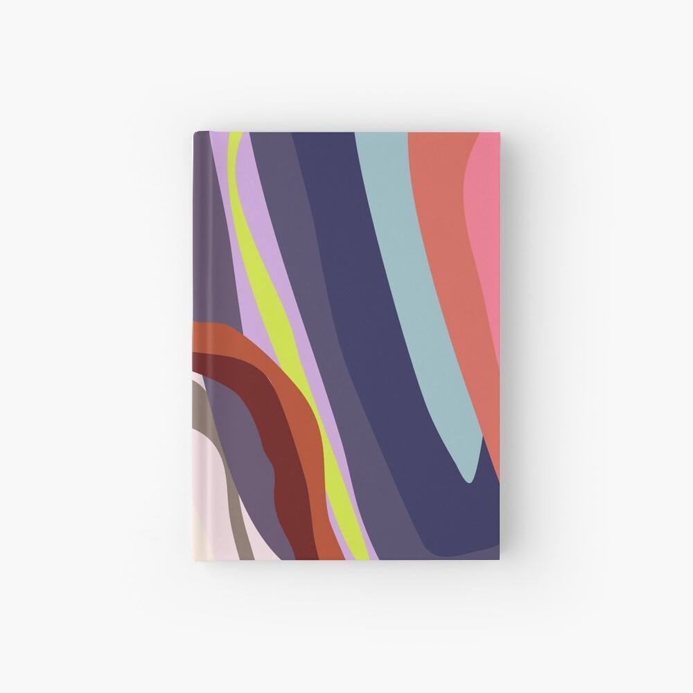 Id, Ego and Superego abstract and colorful Hardcover Journal