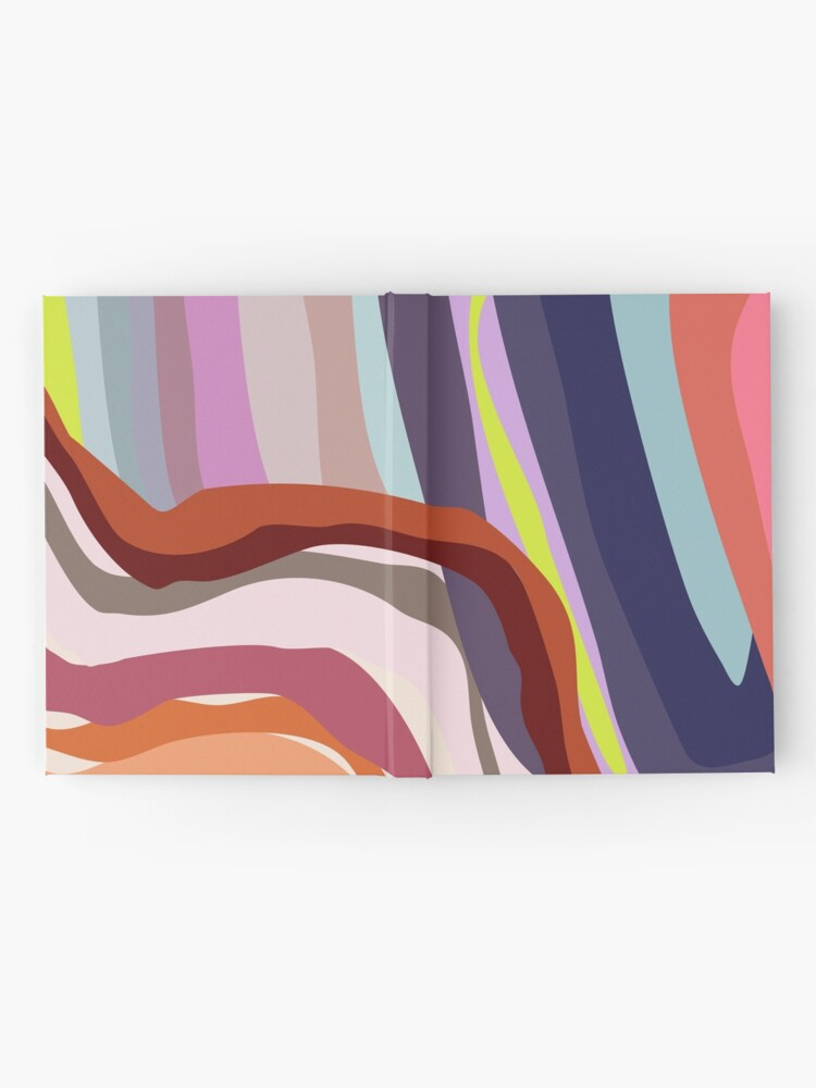 Alternate view of Id, Ego and Superego abstract and colorful Hardcover Journal