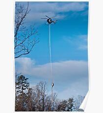 Tree Trimming Helicopter  Poster
