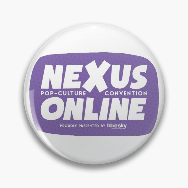 Nexus Online Logo Bubble - Purple Pin
