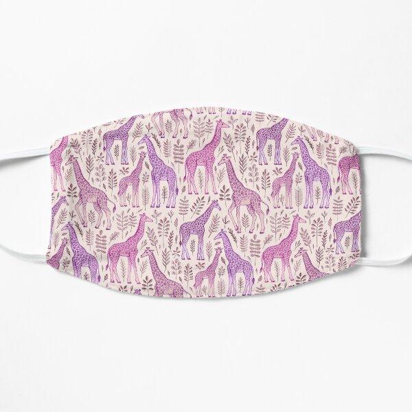 Pink Giraffe Pattern Flat Mask
