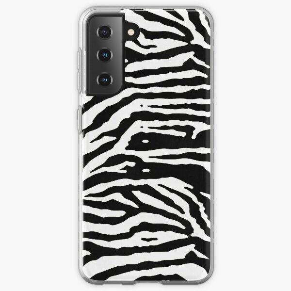 Zebra Skin Camouflage Black and White Pattern Samsung Galaxy Soft Case