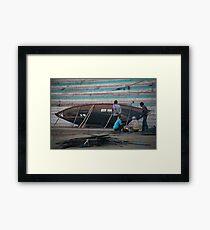 Boat Repair Crew Framed Print