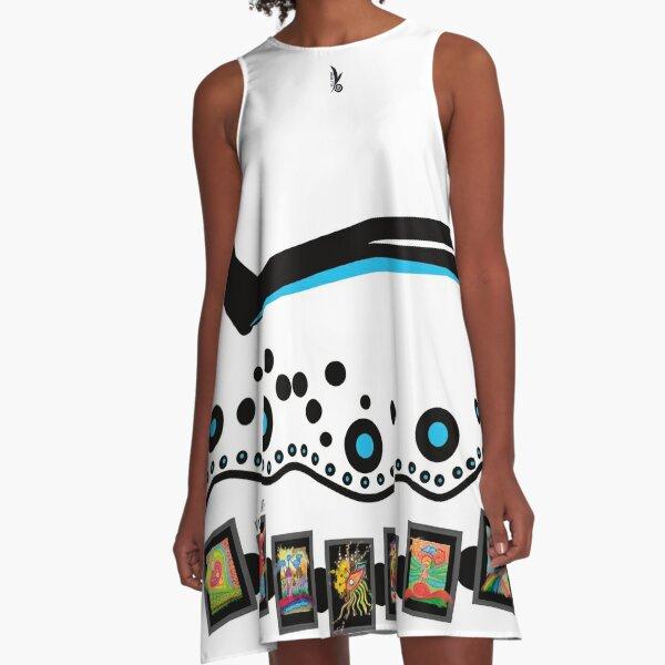 Schwarz-Weiss-Dress! Fabelhaftes Design von VILLA-KPUNKT. A-Linien Kleid