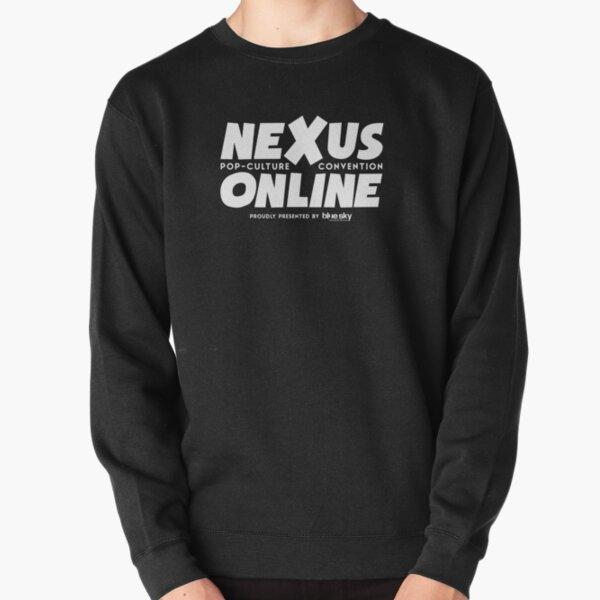 Nexus Online Logo Text - White Pullover Sweatshirt