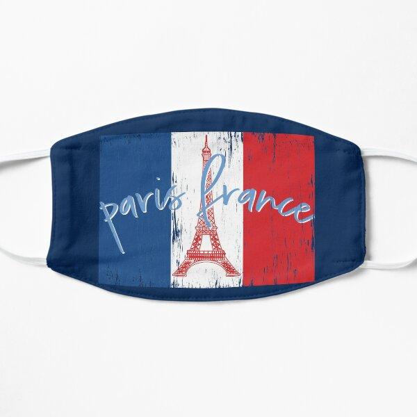 Paris France, Eiffel Tower, French Flag Distressed Vintage Souvenir Flat Mask