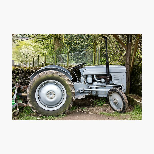 Our Good Old Tractor Photographic Print