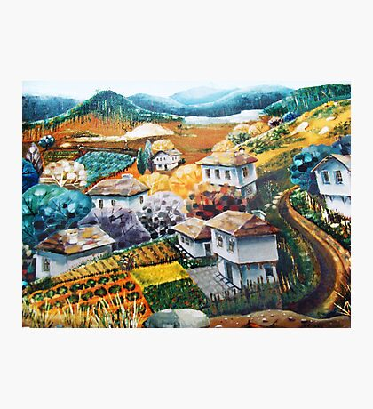 Village in mountains Photographic Print